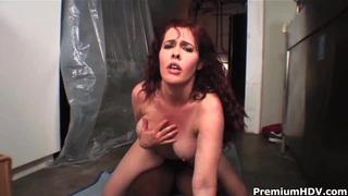 Mae Victoria bounces on huge black penis Thumbnail