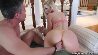 Ashley Fires bouncing on dick of Mick Blue Thumbnail