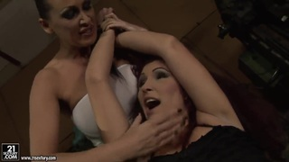BDSM lesbian action with Mandy Bright and Pop Anca Thumbnail