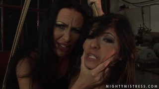 Lesbian BDSM scene with hot brunettes named Mandy Bright and Oliva Thumbnail