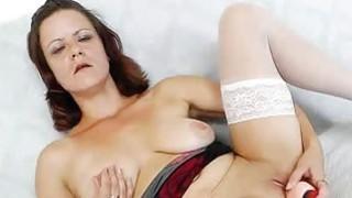 Horny mature masturbating plus a plastic cock Thumbnail