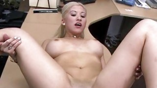 Sexy blonde pawns her twat for some cash Thumbnail