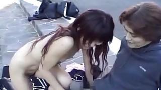 Subtitled extreme Japanese public nudity blowjob Thumbnail
