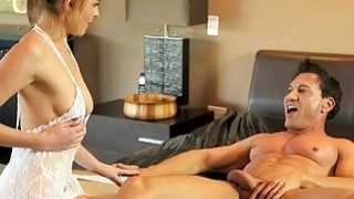 Nasty Keira Nicole gives massage and banged on the bed Thumbnail