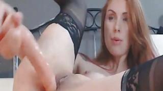 Stunning Redhead Teen Close Up Dildo Pussy Masturb Thumbnail