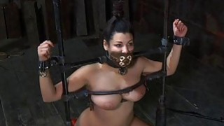Bounded serf gal is getting a twat punishment Thumbnail