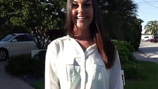 Sexy brunette realtor fucks her client while she is on duty Thumbnail