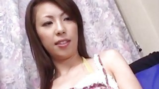 Asian babe swallows cum after giving amazing blowjob Thumbnail