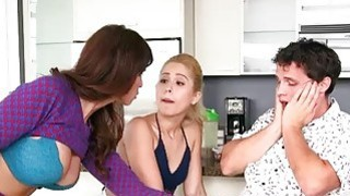 Goldie Oritz and Syren Demer nasty 3some Thumbnail