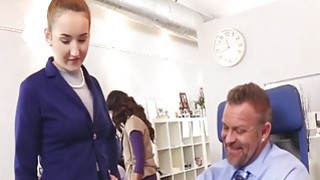 Gigi Flamez and Katalina Mills getting pounded in office Thumbnail