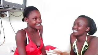 Curious African girls are eager to try new strapon during hot lesbian sex Thumbnail