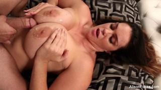 Alison Tyler gets jizz on her huge tits Thumbnail