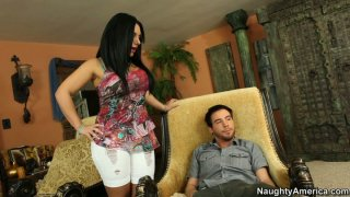 Bella Reese sympathizes shy retarded dude and blows his cock Thumbnail